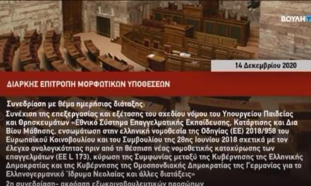 Παρέμβαση του εκπροσώπου του Εθνικού Συμβουλίου Διεκδίκησης των Οφειλών της Γερμανίας προς την Ελλάδα