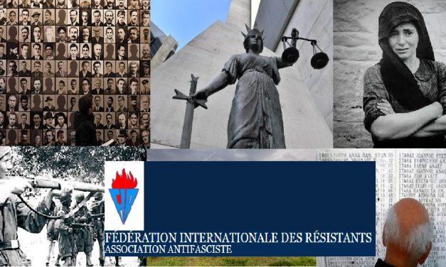 Βαρυσήμαντη παρέμβαση της Παγκόσμιας Ομοσπονδίας Αντιστασιακών – Αντιφασιστών (FIR) υπέρ της απόδοσης των Γερμανικών Οφειλών στην Ελλάδα